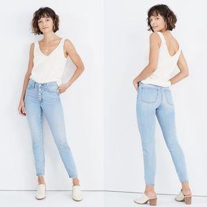Madewell High Rise Skinny Crop Jeans Asbury Wash